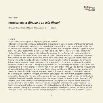 Amarcord Ricerche, 1 - Introduzione alla mia Rimini - Fondazione ...