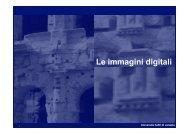 Le immagini digitali - Circe - Università IUAV di Venezia