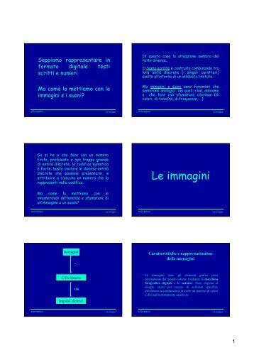 Le immagini mm g - Dipartimento di Matematica e Informatica