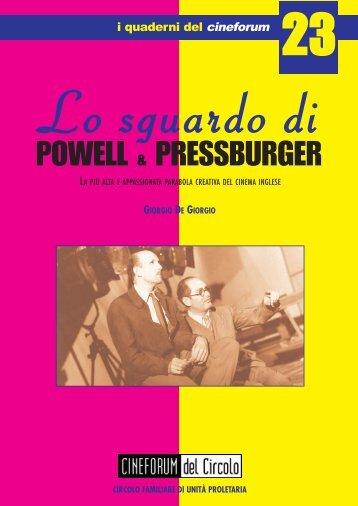 Lo sguardo di Powell & Pressburger - Cineforum del Circolo