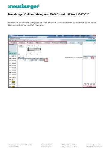 Online Katalog und CAD Export mit DAKO D