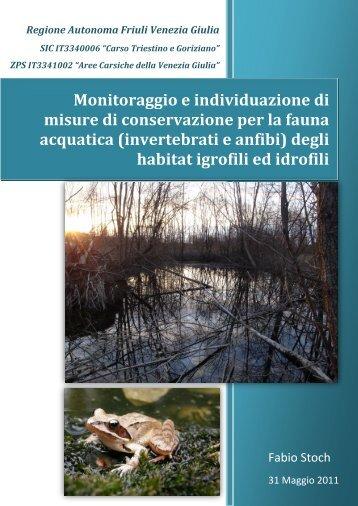 Monitoraggio e individuazione di misure di conservazione per la ...