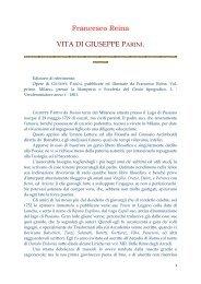 Francesco Reina VITA DI GIUSEPPE PARINI. - Commonweb