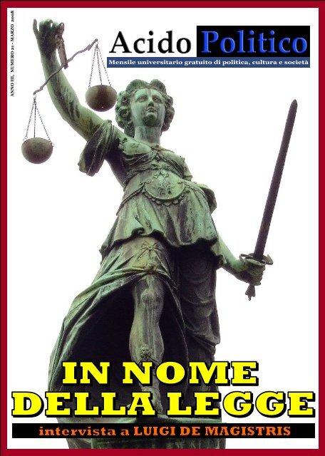 In nome della legge - Acido Politico