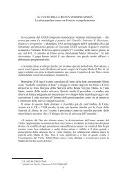 Il Culto della Beata Vergine Maria - Frati Minori Conventuali di Napoli