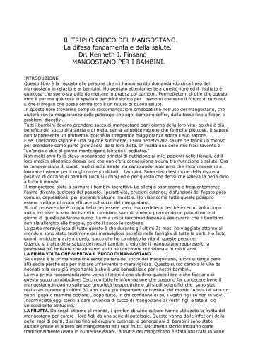 IL TRIPLO GIOCO DEL MANGOSTANO. La difesa ... - Sanamedica.it