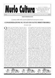 Scarica l'intero giornale in formato PDF (2,5 Mb) - MurloCultura