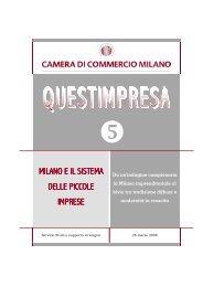MILANO E IL SISTEMA DELLE PICCOLE IMPRESE - Camera di ...