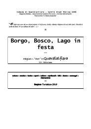 Borgo, Bosco, Lago in festa - Comune di Guardialfiera