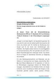 PRESSEMELDUNG - Gewerbeverein-Owingen