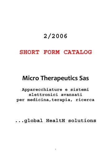 catalogo completo - Microtherapeutics.It