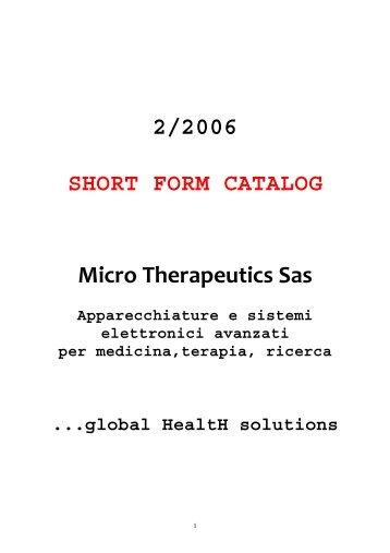 catalogo completo - Microtherapeutics.It