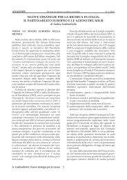 Nuove strategie per la ricerca in Italia - Analysis-online.net