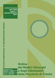 numero 1 2011 - Ordine dei medici-chirurghi ed odontoiatri della ...