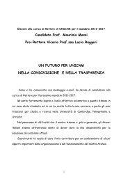 PROGRAMMA [pdf] - Università degli Studi di Camerino