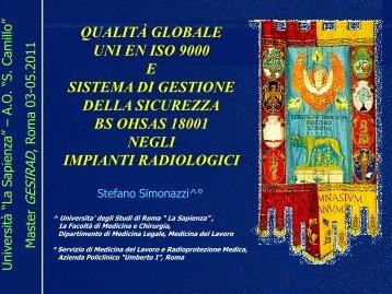 Dott. Stefano SIMONAZZI - Azienda ospedaliera S.Camillo-Forlanini