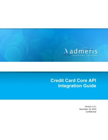 Credit Card Core API Integration Guide - Admeris