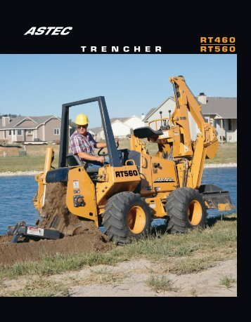 RT460 T R E N C H E R RT560 - Trencher Plus