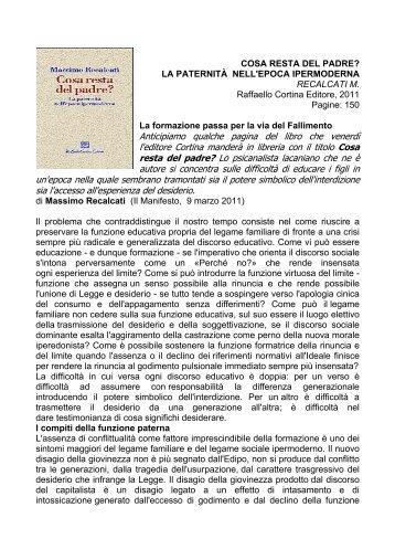 Anticipiamo qualche pagina del libro che venerdì l'editore Cortina ...