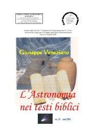 L'Astronomia nei testi biblici - Osservatorio Astronomico di Genova
