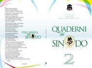 II Quaderno del Sinodo - Diocesi Altamura - Gravina - Acquaviva ...