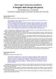 Commento al Vangelo del giorno - 12 Dicembre 2011 - Padre Lino ...