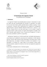 ISTRUZIONI PER I COLLABORATORI DEI - Laboratorio di Linguistica