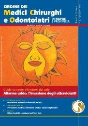 Bollettino Luglio - Agosto 2007 - Ordine dei Medici Chirurghi e degli ...