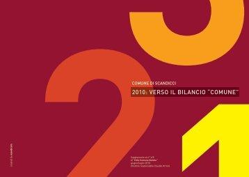 """2010: VErSO Il BIlANCIO """"COMUNE"""" - Comune di Scandicci"""