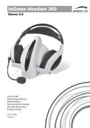 InGame Headset 360 - Speed Link