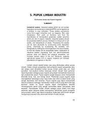 5. pupuk limbah industri - Balai Penelitian Tanah - Departemen ...