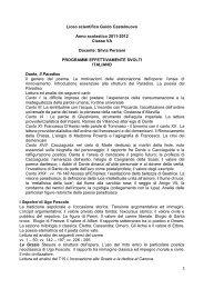 Italiano - Liceo Scientifico Castelnuovo