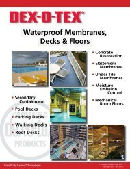 Sweets Div 7, Waterproof Membranes, Decks & Floors - Dex-O-Tex