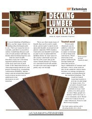 DECKING LUMBER OPTIONS - UT Extension