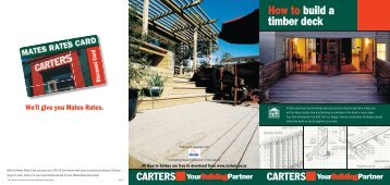 How to build a timber deck - Carters