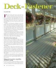 Deck-Fastener Options - Fine Homebuilding
