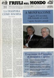 A MONFALCONE - Ente Friuli nel Mondo