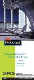Vycor Deck Joist Brochure - Grace Residential
