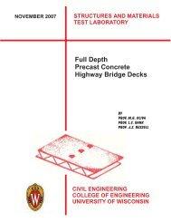 Full Depth Precast Concrete Highway Bridge Decks - College of ...
