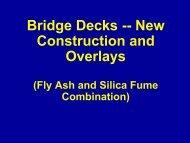 Bridge Decks -- New Construction and Overlays