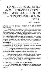 (by koppitz) como test screening de inteligencia - RACO