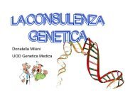 Consulenza genetica - Cusmibio.unimi.it