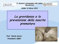 Parto pretermine - Prof. Surico - ONDa