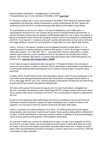 Tribunale Catania, sez. V civile, sentenza 27.03 ... - Franco Crisafi