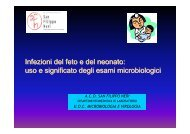 Infezioni del feto e del neonato: uso e significato degli esami microbiologici