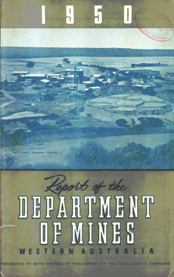 1950 - Department of Mines and Petroleum