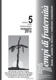 maggio 2010 - Tempi di Fraternità