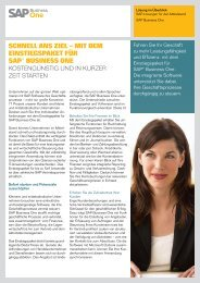 mit dem einstiegspaket für sap® business one - Maringo.de