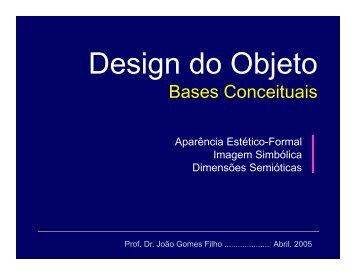 11-Bases Conceituais: Estética / Simbólica / semiótica - João Gomes