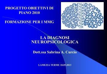 La diagnosi neuropsicologica (dr.ssa Sabrina Curcio) - Univa Calabria